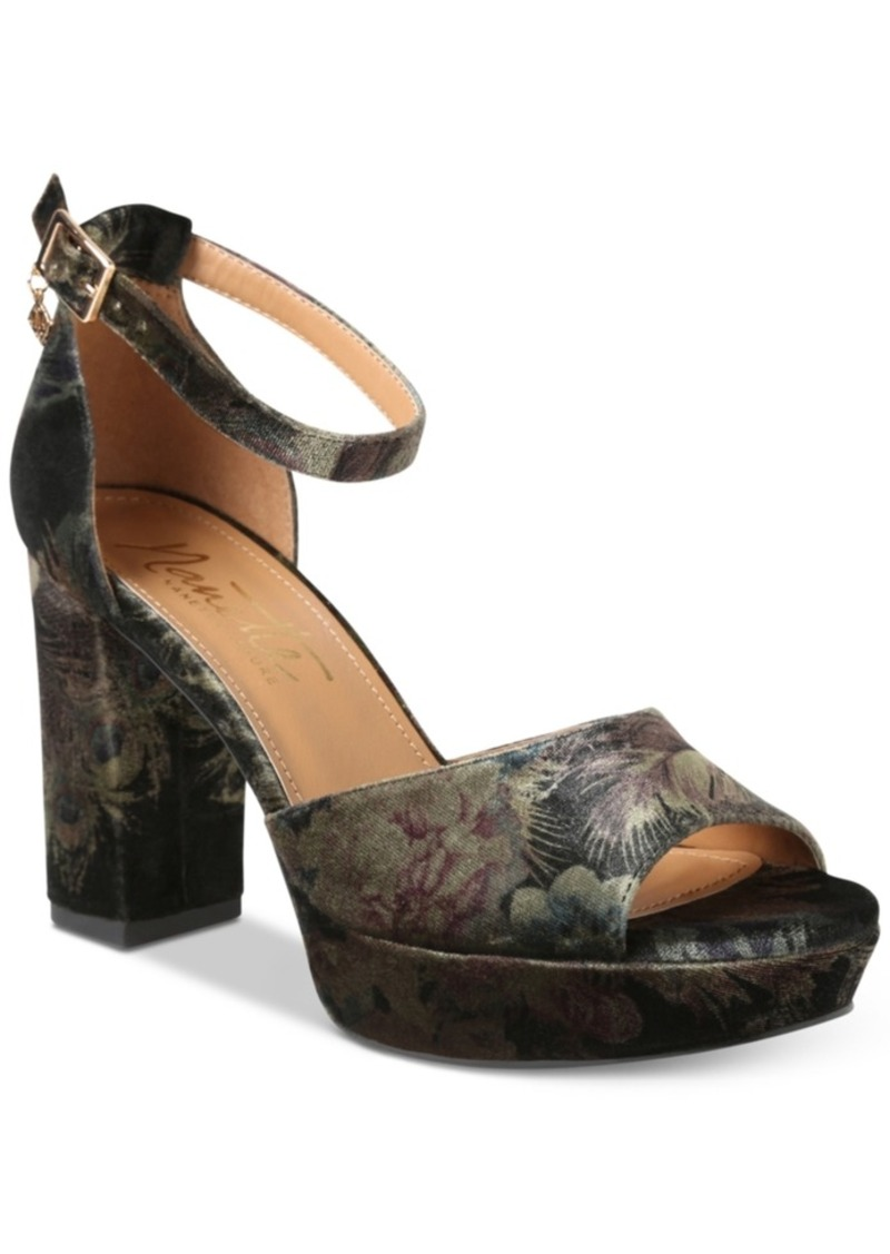 0342cfeffa5a Nanette by Nanette Lepore Viola Two-Piece Platform Block-Heel Sandals  Women s Shoes
