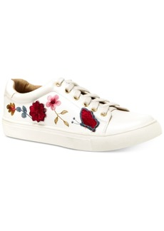 Nanette by Nanette Lepore Wildflower Embroidered Lace-Up Sneakers Women's Shoes