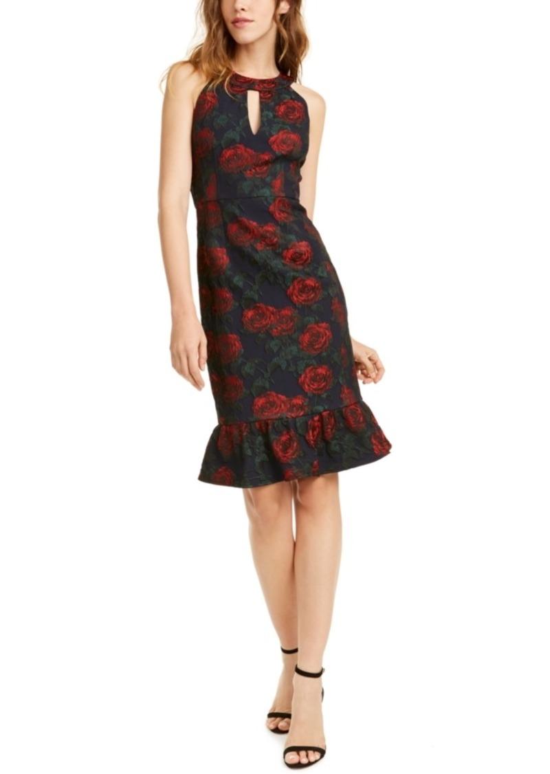 Nanette Lepore Nanette Leopore Ruffled Rose-Print Dress