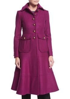 Nanette Lepore A-Line Long Wool Coat