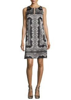 Nanette Lepore Sleeveless Silk Lace-Print Mini Dress