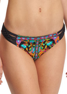 Nanette Lepore King's Road Charmer Braid-Side Printed Swim Bottom