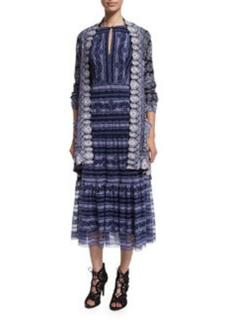 Nanette Lepore Long-Sleeve Printed Cardigan