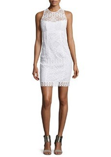 Nanette Lepore Sleeveless Lace Illusion Sheath Dress