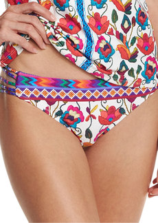 Nanette Lepore Antigua Charmer Strappy-Side Swim Bottom