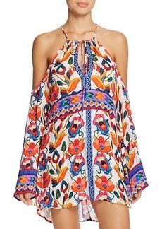 Nanette Lepore Antigua Embroidery Print Dress Swim Cover-Up