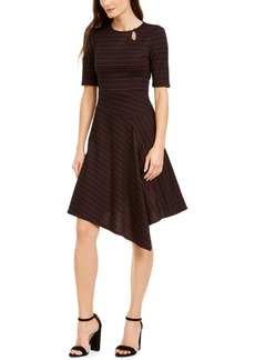 Nanette Lepore Asymmetrical Elbow-Sleeve Dress