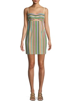 Nanette Lepore Atlantis Striped Mini Dress