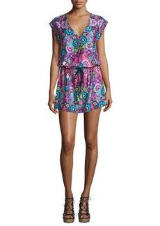 Nanette Lepore Bali Batik Printed Tunic Coverup Dress