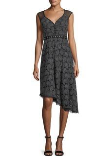 Nanette Lepore Beatrice Sweetheart-Neck Paisley Jacquard Dress
