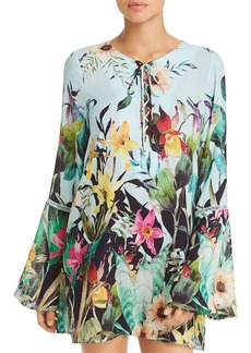 Nanette Lepore Bloom Botanical Tunic Swim Cover-Up
