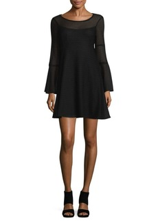 Nanette Lepore Blow Away Bell Sleeve Shift Dress