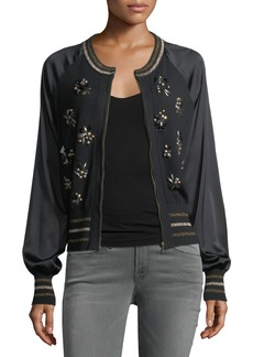 Nanette Lepore Bon Bon Embellished Bomber Jacket