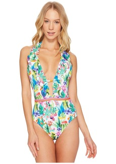 Nanette Lepore Cactus Goddess One-Piece Swimsuit