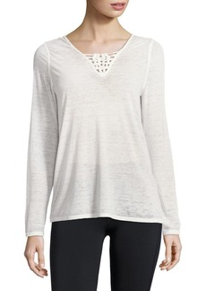 Nanette Lepore Caged V-Neck Top