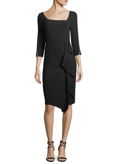 Nanette Lepore Can Can Asymmetric 3/4-Sleeve Dress