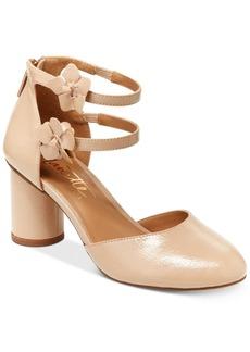 Nanette Lepore Canada Flower Embellished Ankle Strap Pumps Women's Shoes