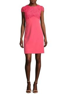 Cap Sleeve Knit Lace Dress
