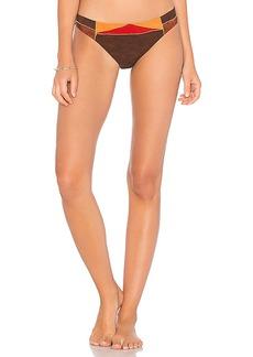 Nanette Lepore Charmer Bikini Bottom in Brown. - size L (also in M,S,XS)