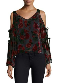 Cold-Shoulder Lace Top