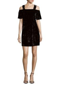 Nanette Lepore Cold-Shoulder Velvet Dress