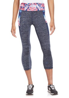 Nanette Lepore Contrast Cropped Athletic Leggings