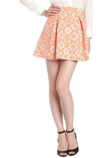 Nanette Lepore coral ikat print cotton blend tw...