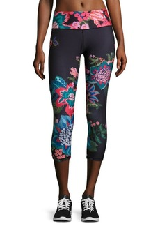 Nanette Lepore Cropped Floral Performance Leggings