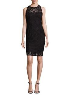Nanette Lepore Crossback Lace Dress
