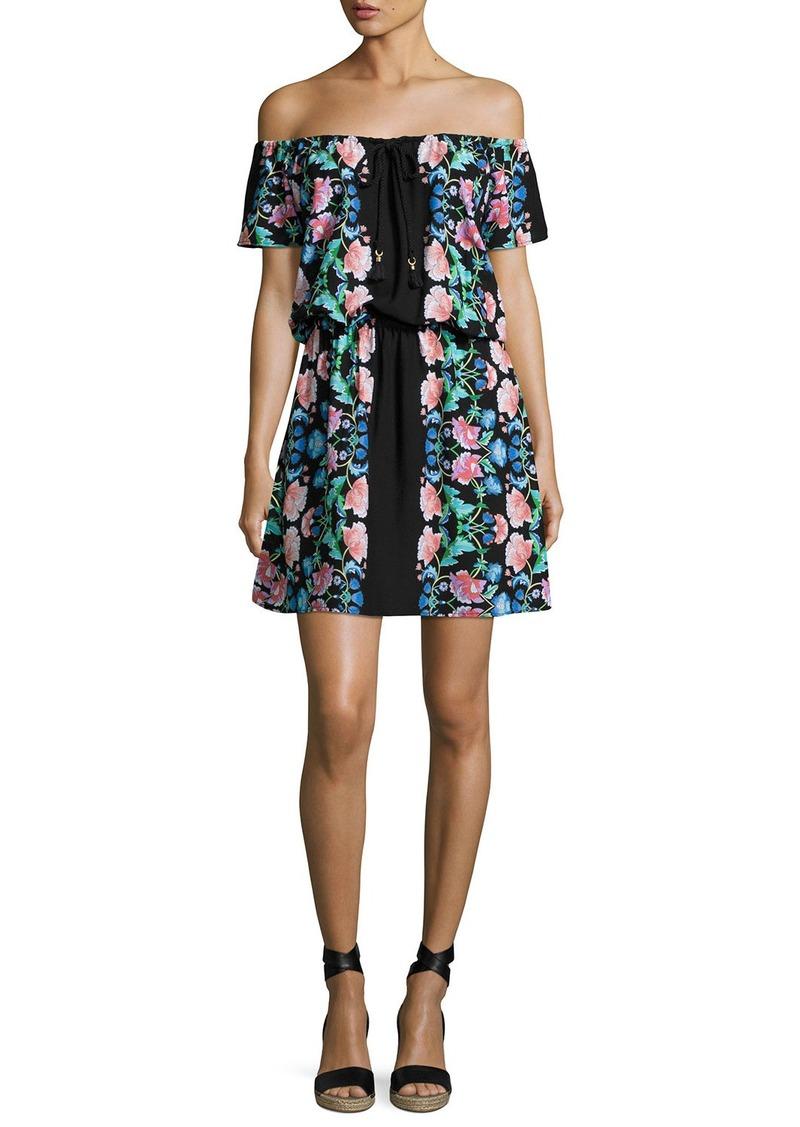 Nanette Lepore Damask Floral Off-the-Shoulder Dress