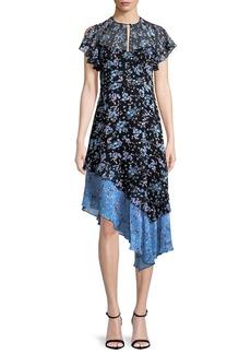 Nanette Lepore Desdemona Floral Silk Asymmetric Dress