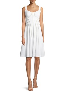 Nanette Lepore Destination Scoop-Neck Ladder-Detail Dress