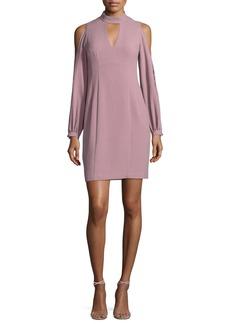 Nanette Lepore Dita Cold-Shoulder Long-Sleeve Sheath Cocktail Dress