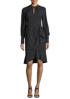 Nanette Lepore Divine Embroidered Side Drape Day Dress