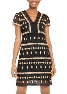 Nanette Lepore Effortless Geo-Lace Sheath Dress