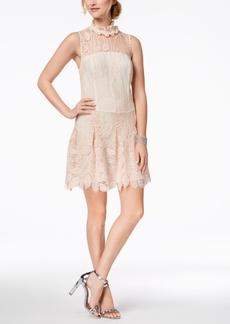 Nanette Lepore Embroidered Illusion Dress
