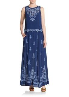 Nanette Lepore Embroidered Maxi Dress