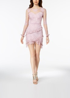 Nanette by Nanette Lepore Embroidered Mesh Sweetheart Dress