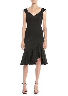 Nanette Lepore Escapade Dress w/ Asymmetric Hem