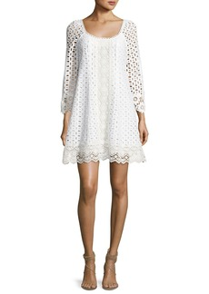 Nanette Lepore Eye Candy Cotton Eyelet Swing Dress