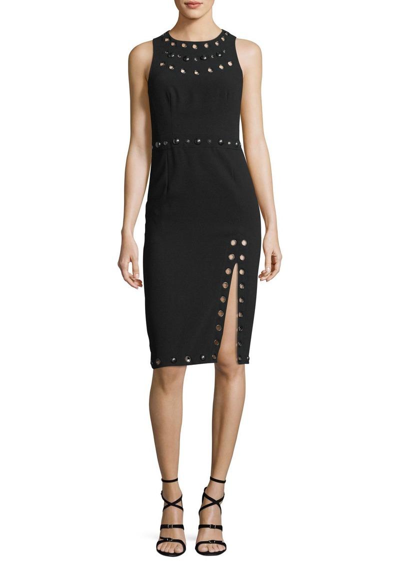 Nanette Lepore Fierce Frock Jewel-Neck Sleeveless Sheath Dress