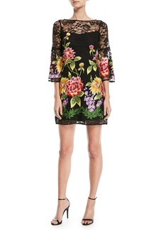 Nanette Lepore Fiesta Lace-Yoke Mini Dress