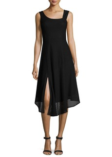 Nanette Lepore First Mate Sleeveless Asymmetric Stretch Mesh Dress