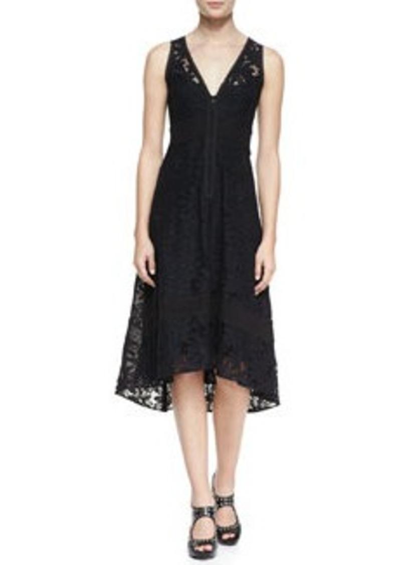 Nanette Lepore Flamenco Lace Arch-Hem Dress