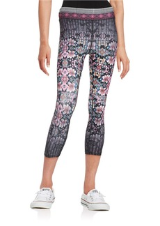 NANETTE LEPORE Floral Cropped Leggings