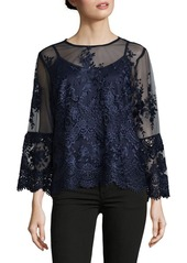 Nanette Lepore Floral Embroidered Blouse
