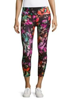 Nanette Lepore Floral-Print Cropped Leggings