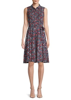 Nanette Lepore Floral Sleeveless Chiffon Dress