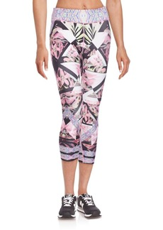 Nanette Lepore Fragment Orchid Cropped Leggings
