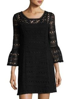 Nanette Lepore Free Spirit Crochet Frock Dress